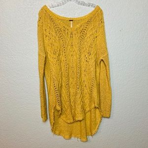 Free people   Cross My Heart Pullover Sweater